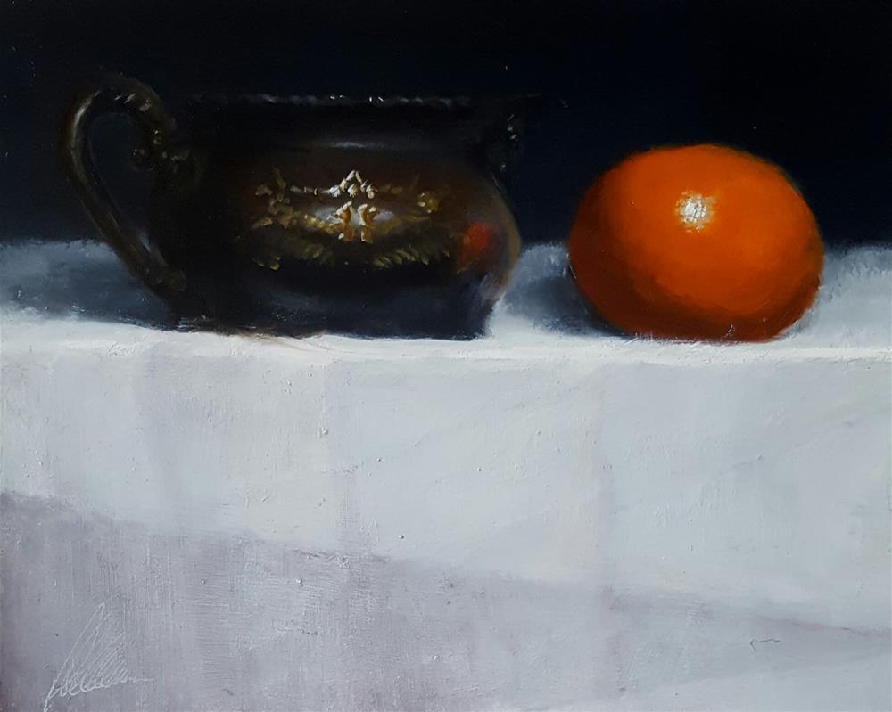 """Silver and citrus"" original fine art by Dustin Klassen"