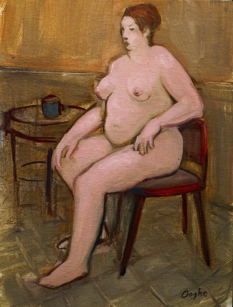 """""""Nude Beside a Coffee Cup"""" original fine art by Angela Ooghe"""