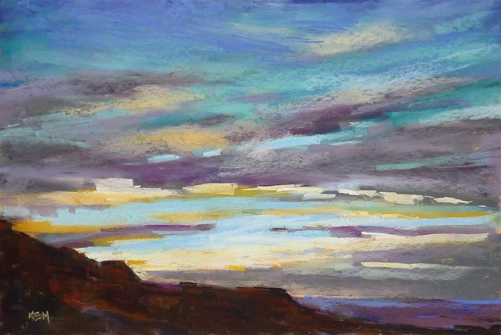 """A Great Book For Painting Clouds...Become a Cloud Connaisseur"" original fine art by Karen Margulis"