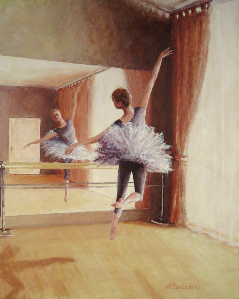 """Dancing in the light"" original fine art by Anna Starkova"
