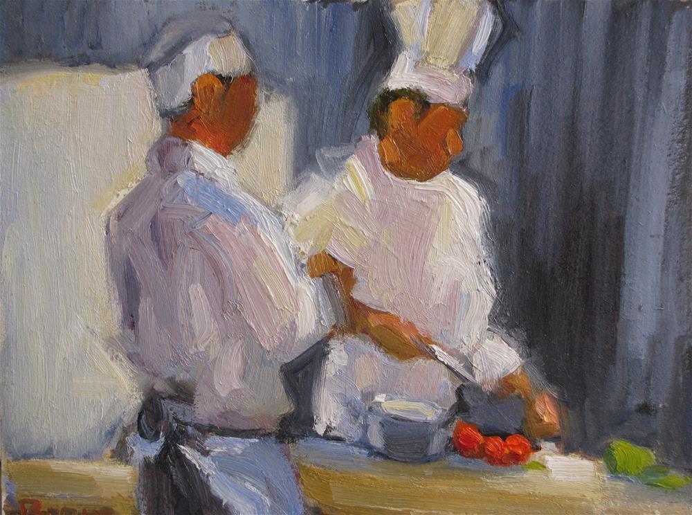 """Whats For Dinner?"" original fine art by Rita Brace"