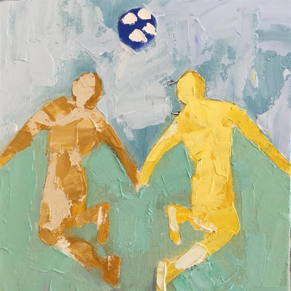 """Soccer ballet 2"" original fine art by pamela kish"