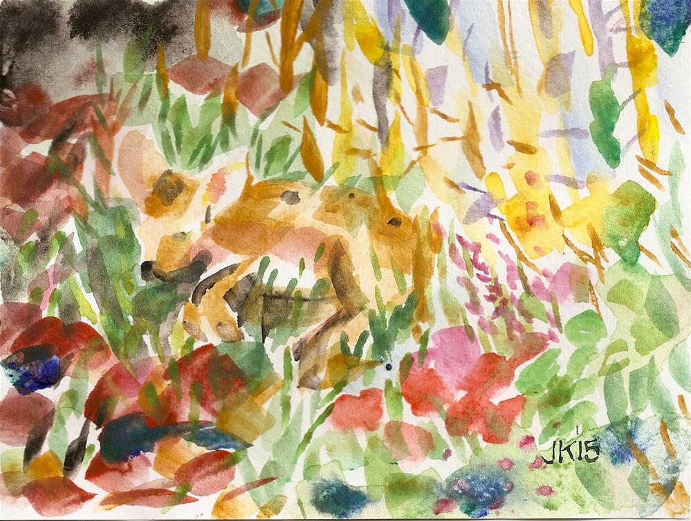 """Deer Baby"" original fine art by Jean Krueger"