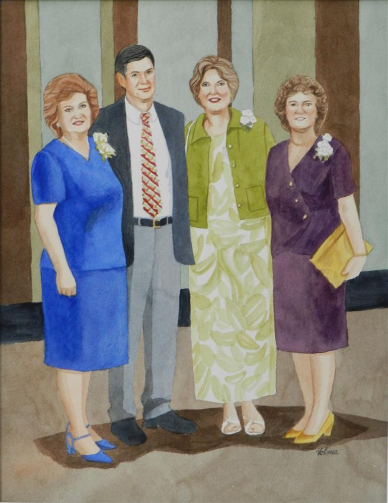 """Brother with 3 Sisters"" original fine art by Velma Davies"