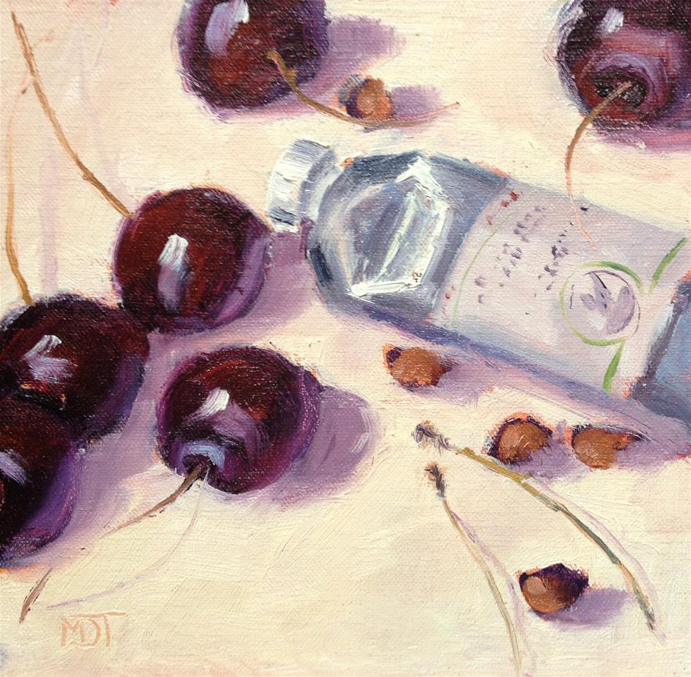 """""""Cherries"""" original fine art by Mo Teeuw"""