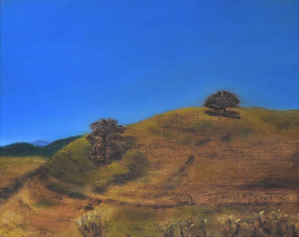 """Crockett Hills, Two Trees"" original fine art by Tisha Mark"