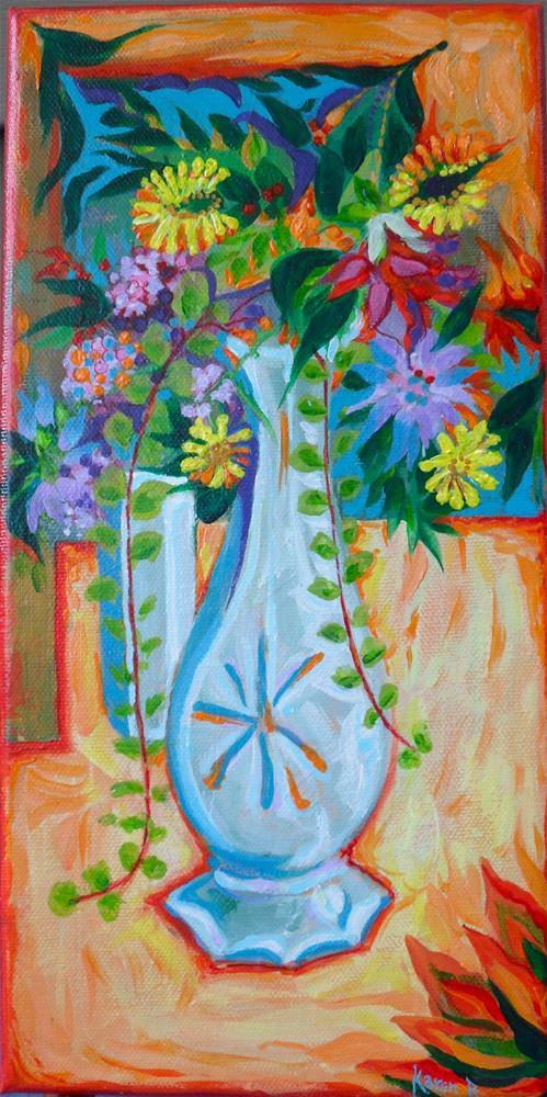 """White Vase"" original fine art by Karen Roncari"