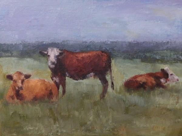 """""""Chillin'"""" original fine art by Lori Lamb"""