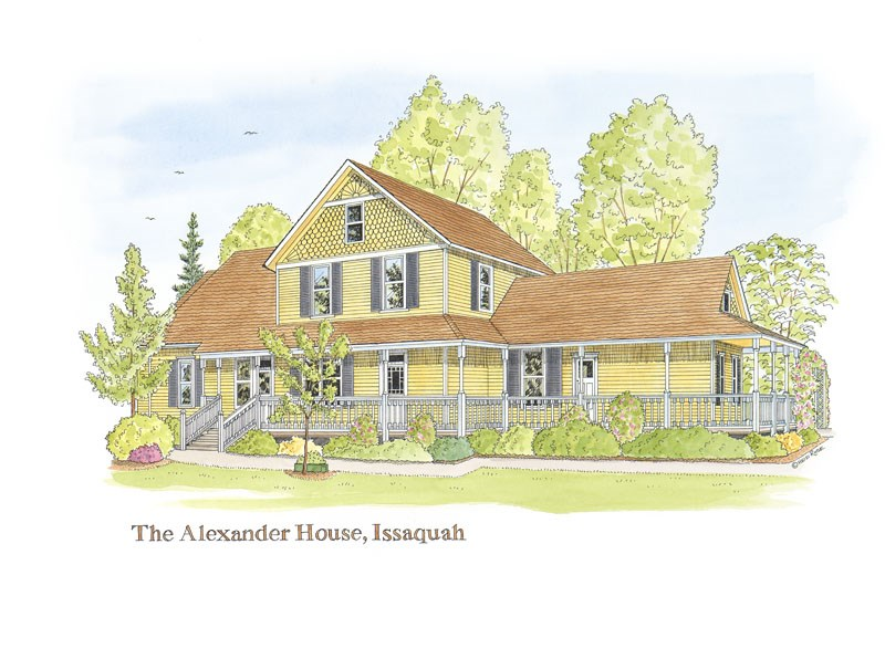 """The Alexander House"" original fine art by Heidi Rose"