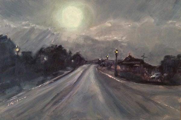 """""""Before the Storm. Bedford"""" original fine art by Shelley Koopmann"""