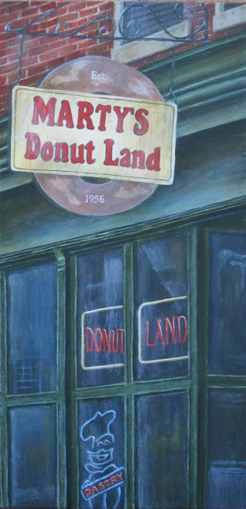 """Marty's Donut Land"" original fine art by Debbie Shirley"