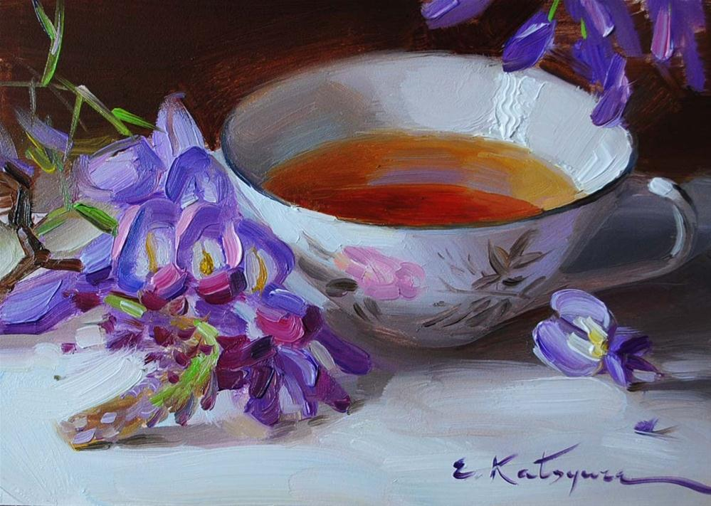 """Spring Tea"" original fine art by Elena Katsyura"