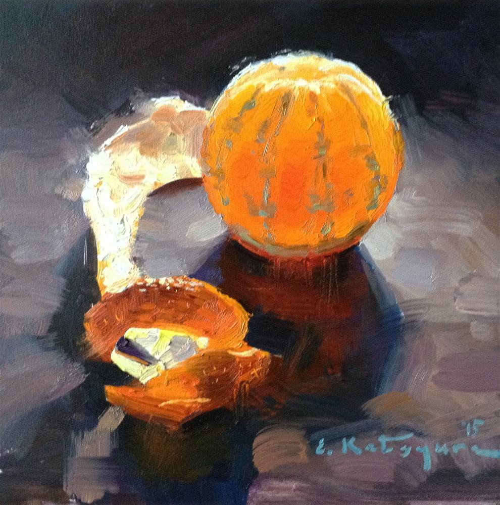 """Monday Mandarin"" original fine art by Elena Katsyura"