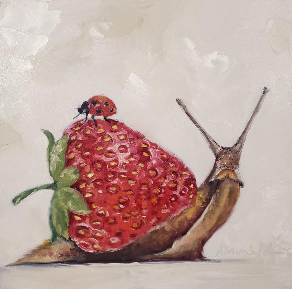 """""""Snailberry"""" original fine art by Karen Weber"""
