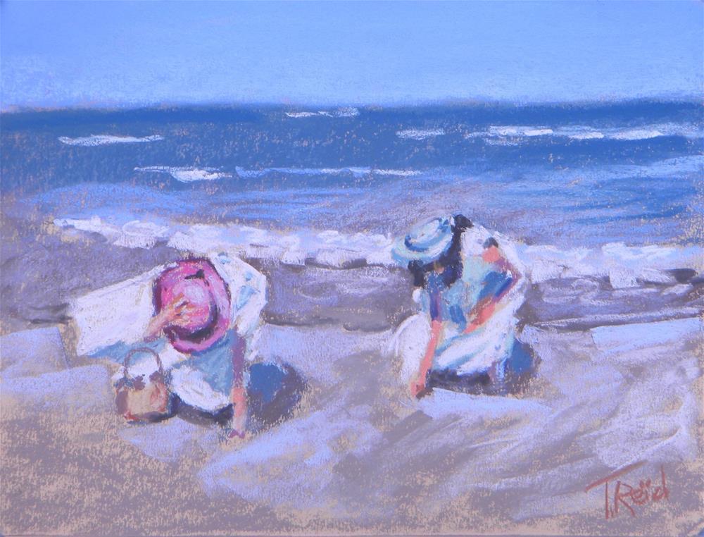 """""""Windy Beach Morning #2"""" original fine art by Toby Reid"""