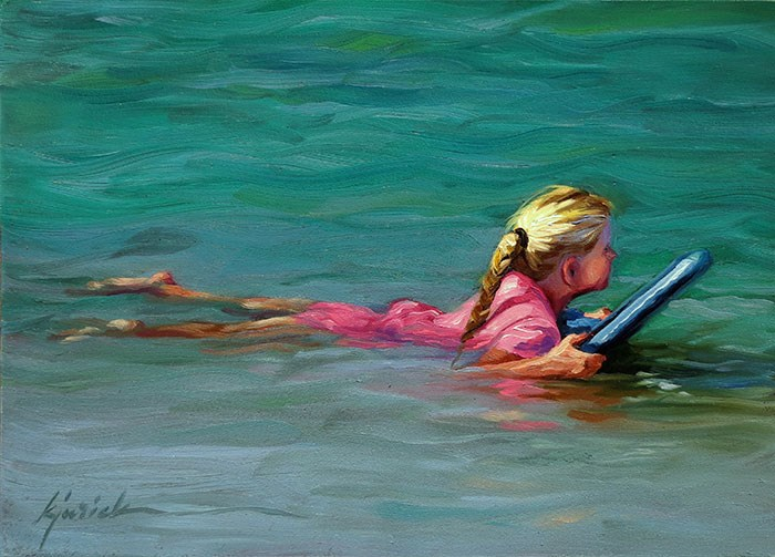 """Little Surfer"" original fine art by Karin Jurick"