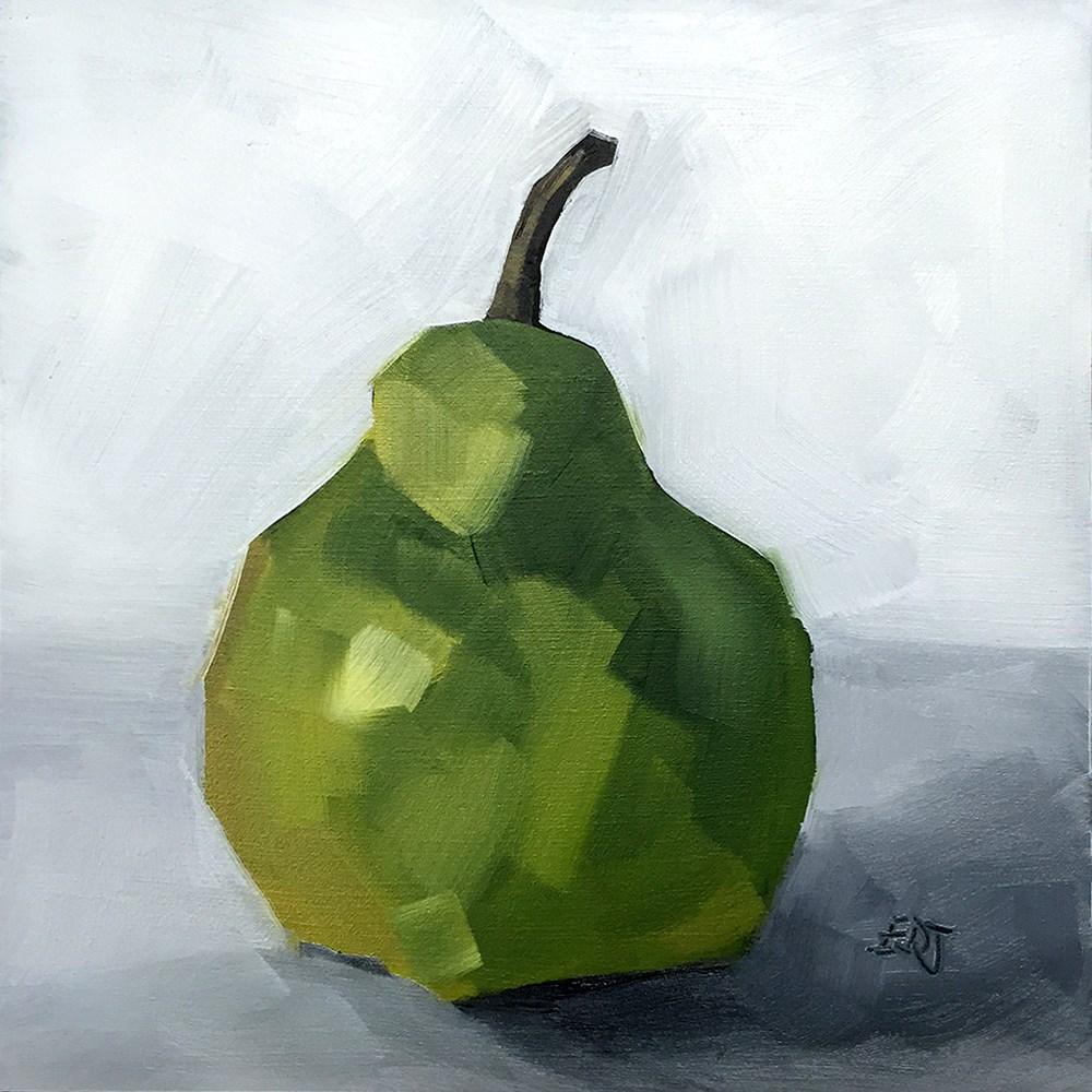 """""""Simple Pear"""" original fine art by Elizabeth Dawn Johnston"""