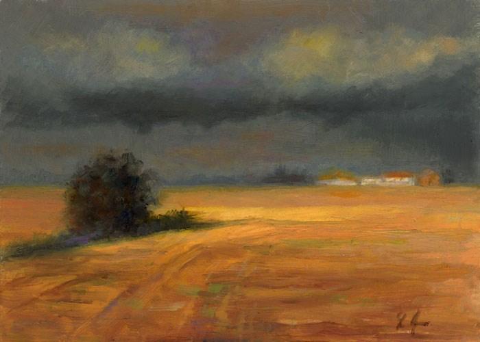 """Sunshine After the Rain, Denmark"" original fine art by Linda Jacobus"