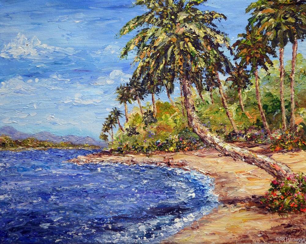 """SALE!!!Tropical Sand"" original fine art by Gloria Ester"