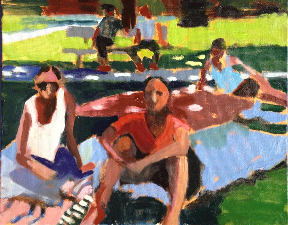"""""""gauguin Women"""" original fine art by Pamela Hoffmeister"""