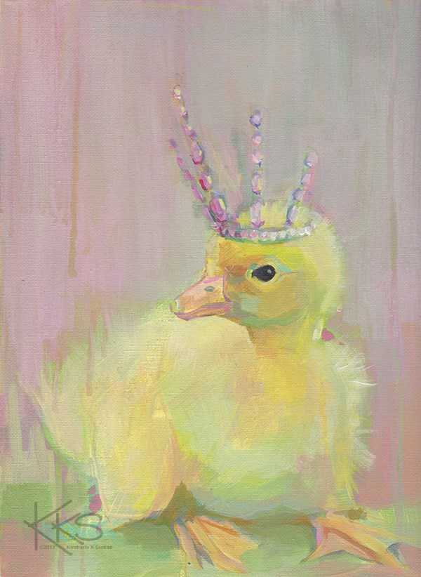 """Princess Aurora"" original fine art by Kimberly Santini"
