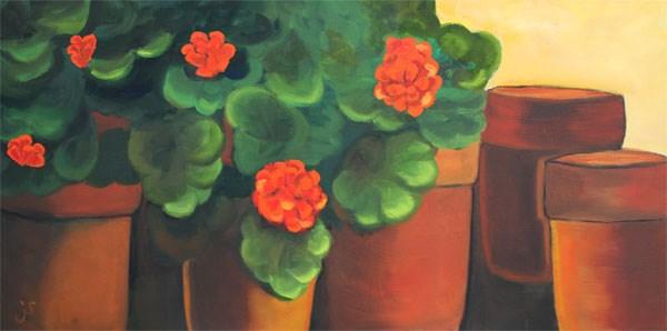 """""""Summer Sunrise"""" original fine art by Johnna Schelling"""