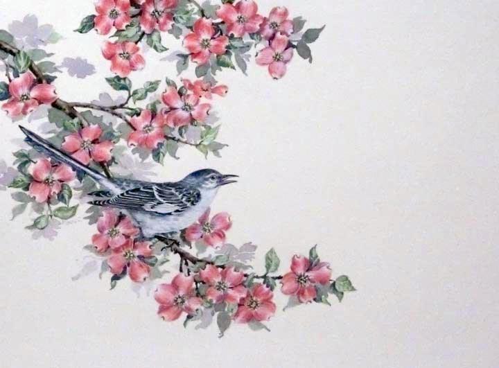 """""""Mockingbird"""" original fine art by Jean Pierre DeBernay"""