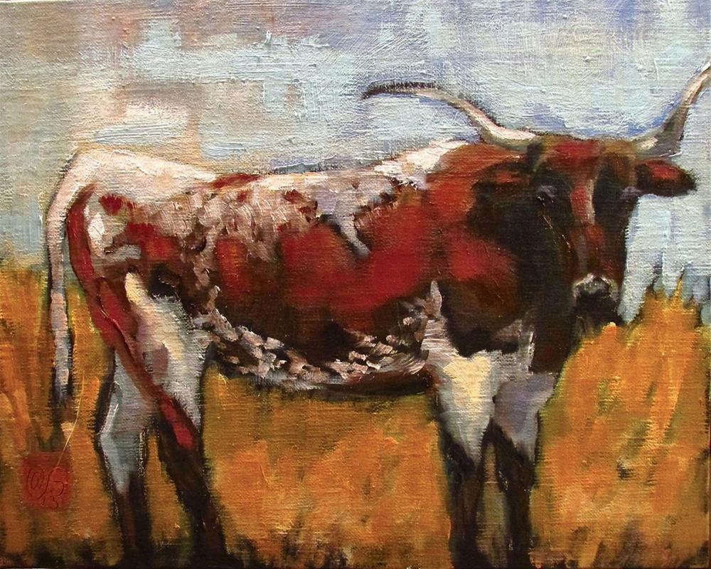 """Three Rivers Longhorn"" original fine art by Aurelio Saiz"