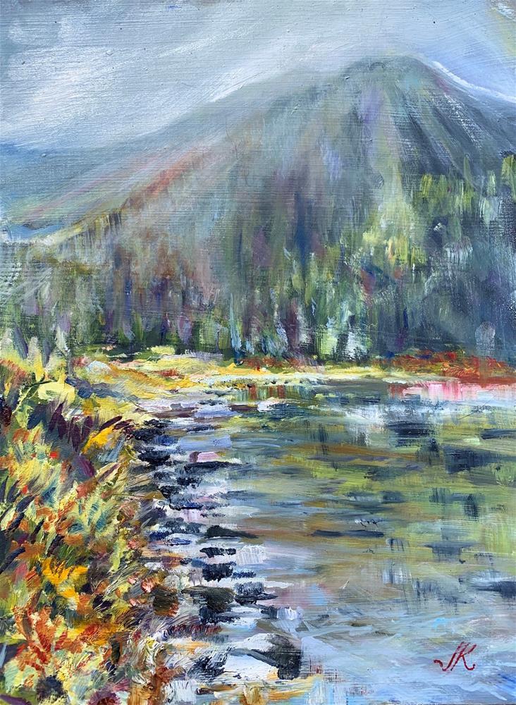 """""""Goodwin Lake"""" original fine art by Jean Krueger"""