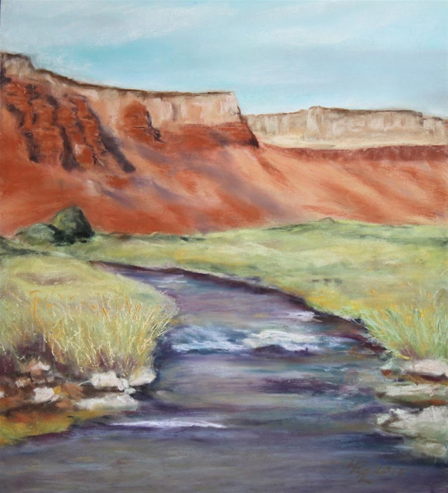 """Lodge View"" original fine art by Anna Lisa Leal"
