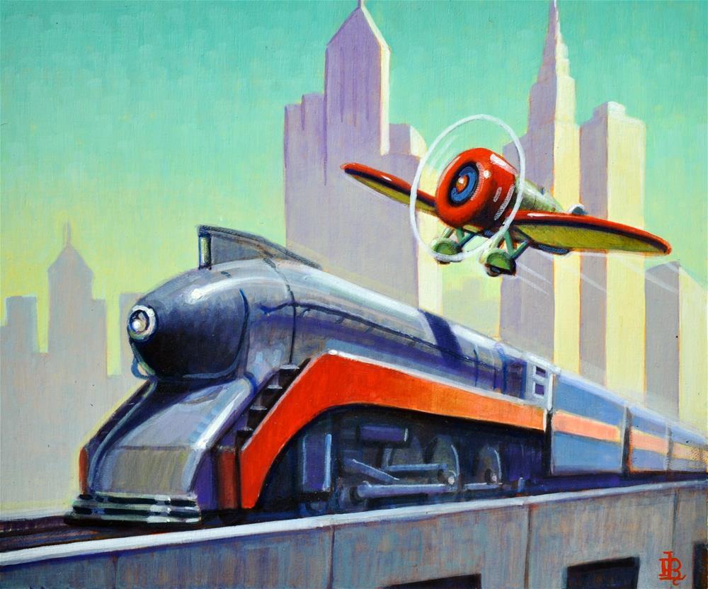"""""""Streamlined"""" original fine art by Robert LaDuke"""