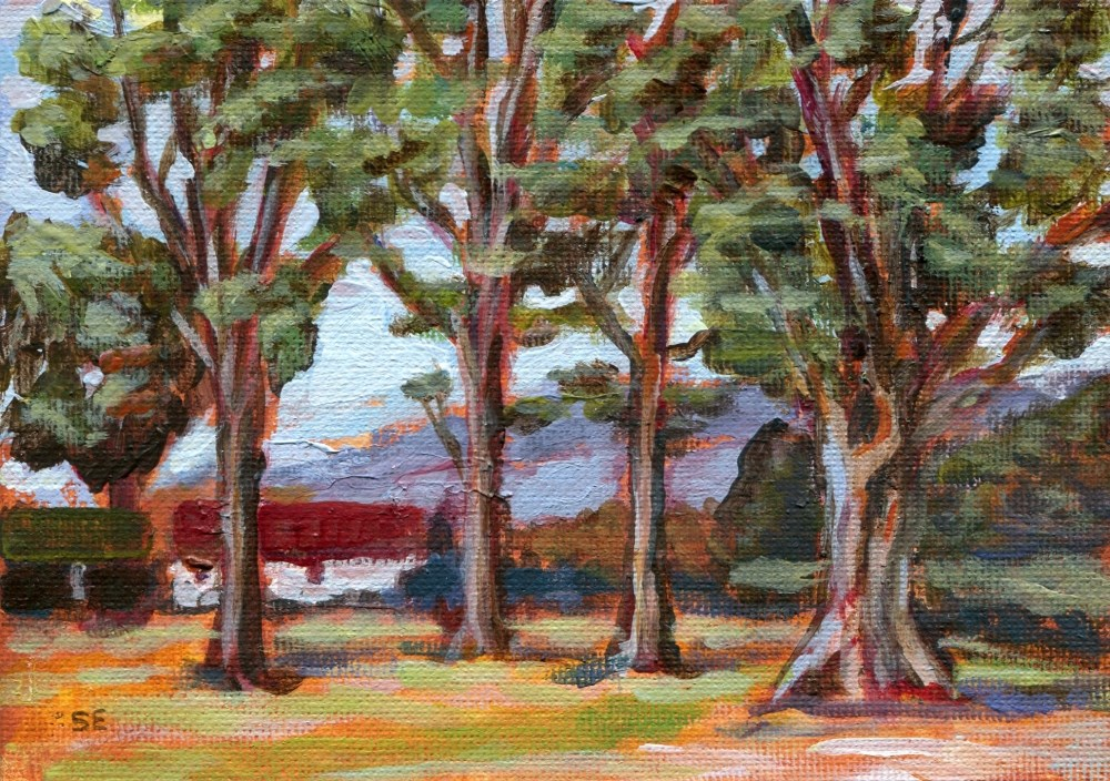 """""""Through The Trees"""" original fine art by Stanley Epperson"""