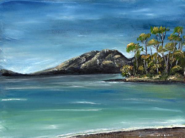 """""""East Coast of Tasmania"""" original fine art by Janet Graham"""