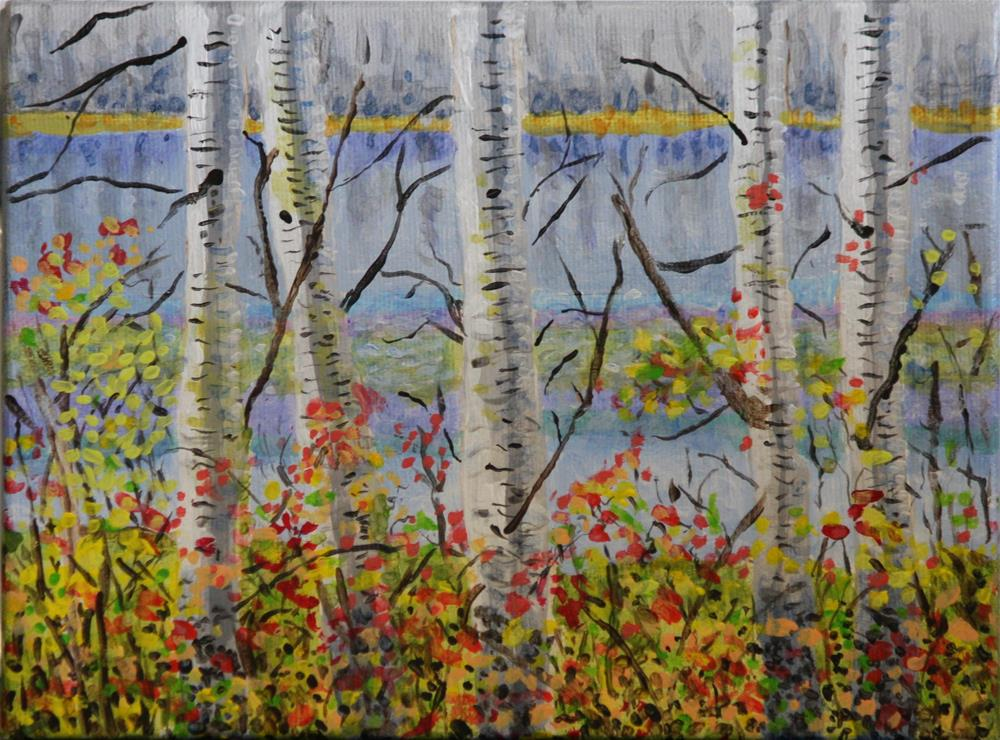 """Autumn at Tyee Lake"" original fine art by Terri-Anne Barge"
