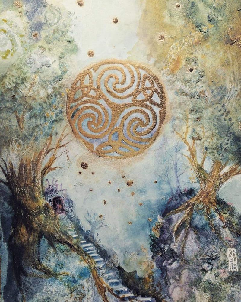 """Celtic Journey"" original fine art by Kathleen Barnes"