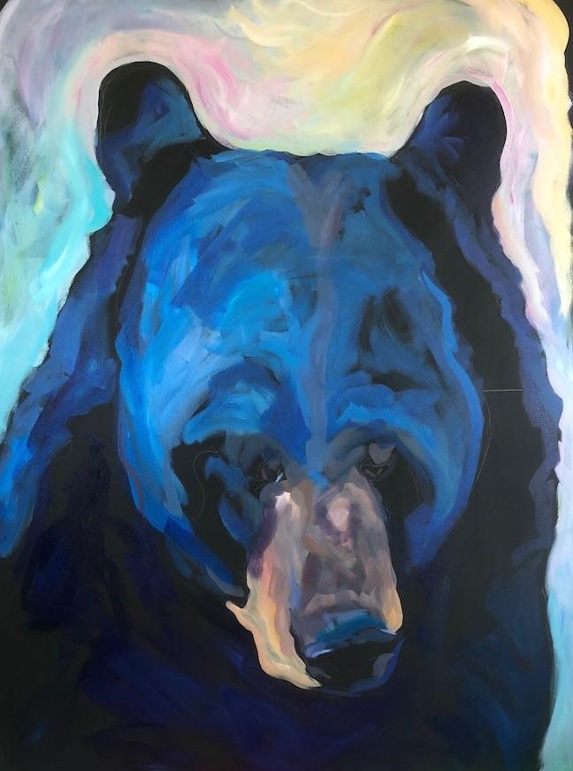 """""""Big Bear Head"""" original fine art by Kat Corrigan"""