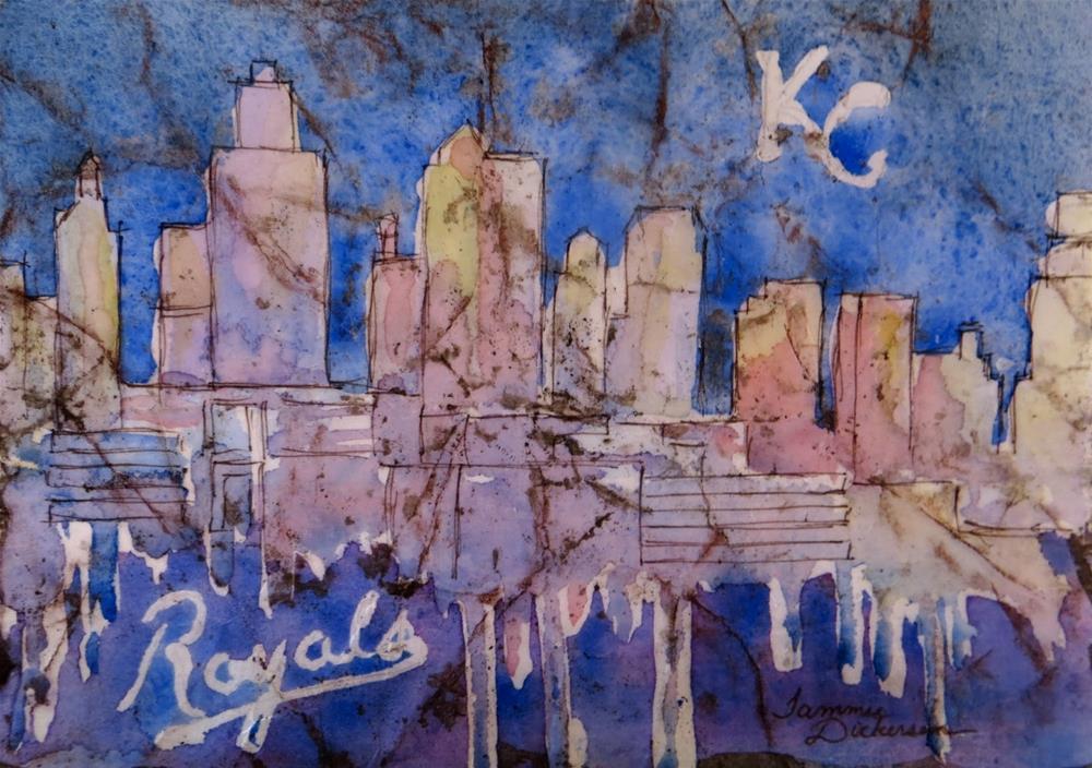 """KC Royals!"" original fine art by Tammie Dickerson"