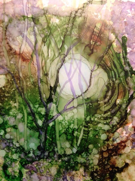 """Into the Woods"" original fine art by Margie Whittington"