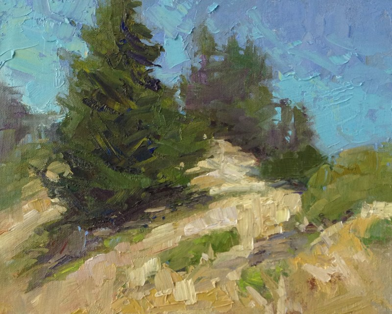 """The Tippy Top of Castle Rock"" original fine art by Patti McNutt"