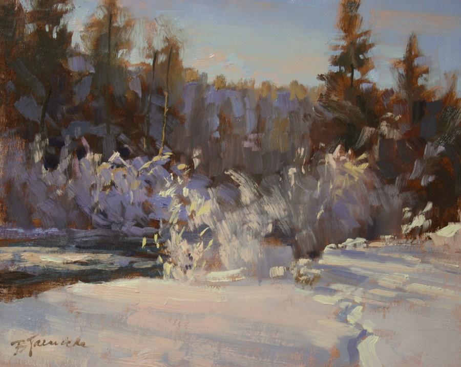 """Winter Frosting"" original fine art by Barbara Jaenicke"
