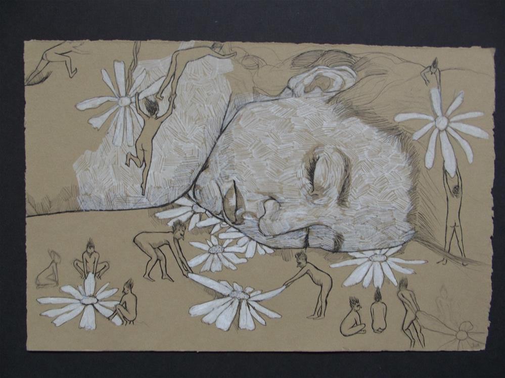 """While You Were Sleeping"" original fine art by wanda sigafus"