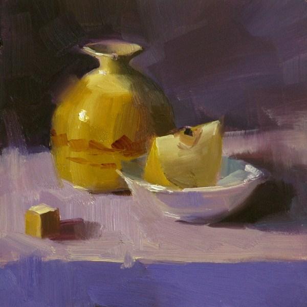 """""""Asian Pear"""" original fine art by Qiang Huang"""