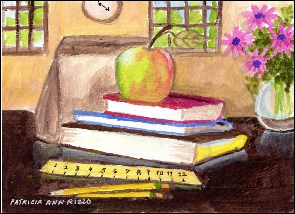 """Back to School"" original fine art by Patricia Ann Rizzo"