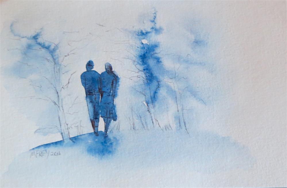 """A Couple 0138"" original fine art by Michelina Frey"