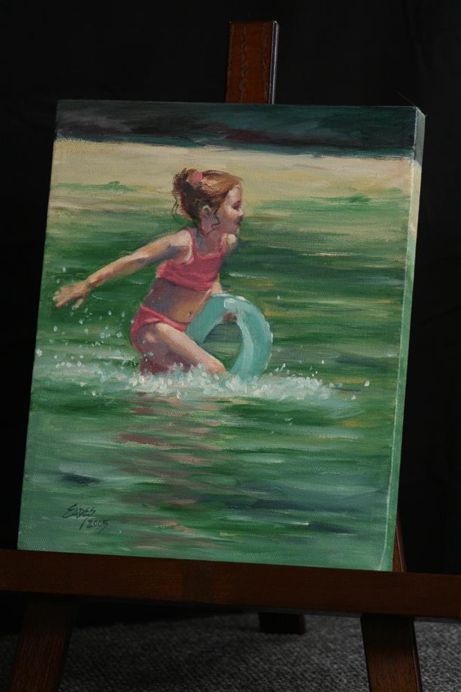 """Summer Play"" original fine art by Linda Eades Blackburn"