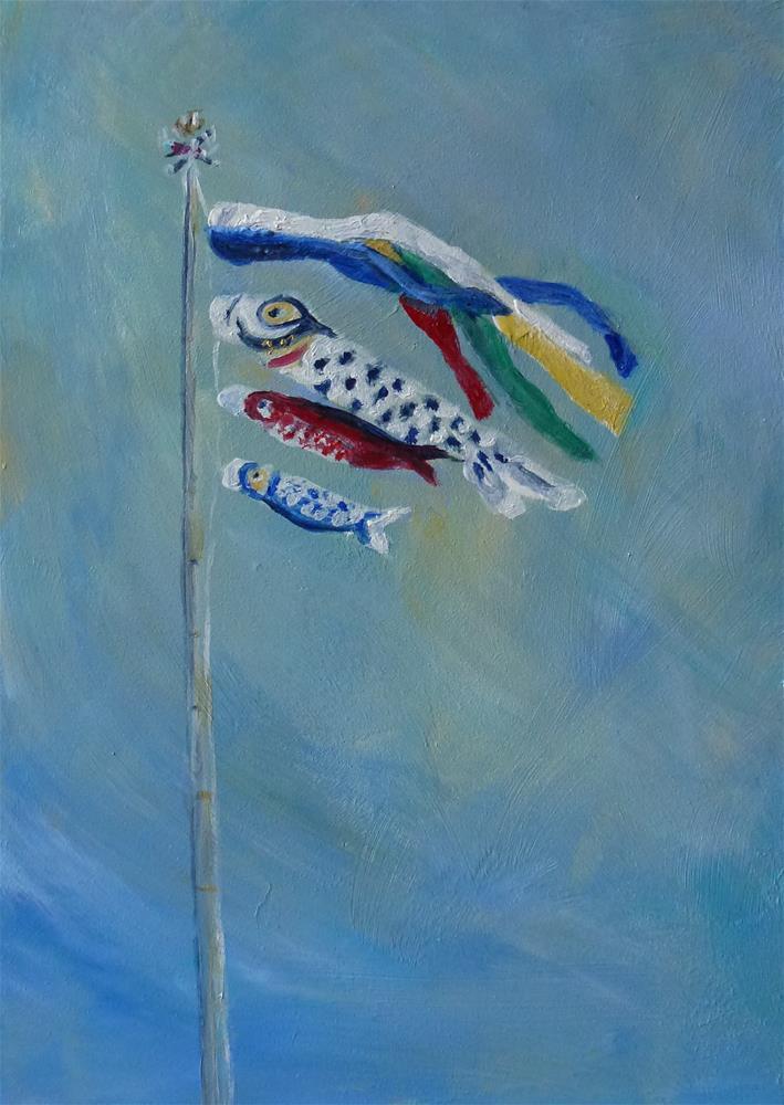 """Boys' Day"" original fine art by Judith Elder"