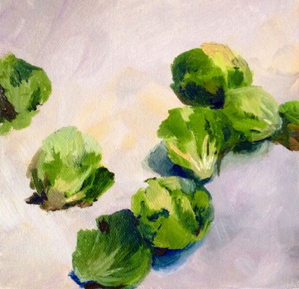 """""""Brussel Sprouts"""" original fine art by Cathy Boyd"""