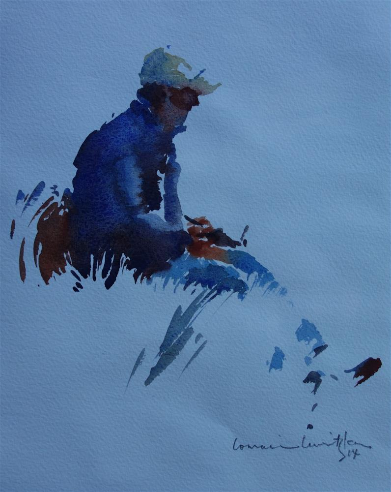 """""""The Artist"""" original fine art by Lorraine Lewitzka"""