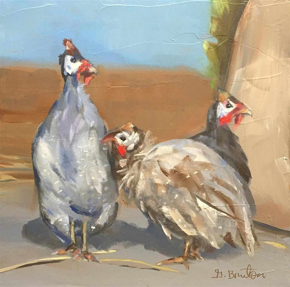 """Gossips"" original fine art by Gary Bruton"