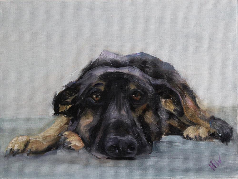 """Shepherd Lump"" original fine art by H.F. Wallen"